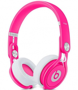 Наушники Monster Beats Mixr Neon Pink